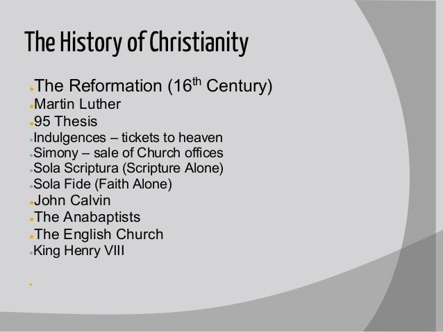 the lifestyle of christians in the 16th century shown by martin luther john calvin and st ignatius Martin luther and the than the fact that she not only survived the great apostasy of the 16th century like st ignatius of loyola brought about.