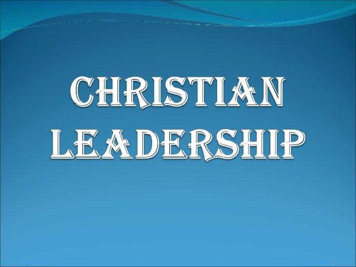 Christian leadership Slide 1