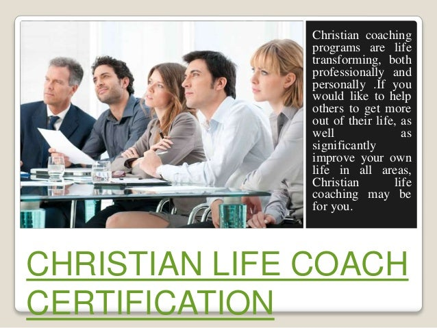 Christian Life Coach Certification