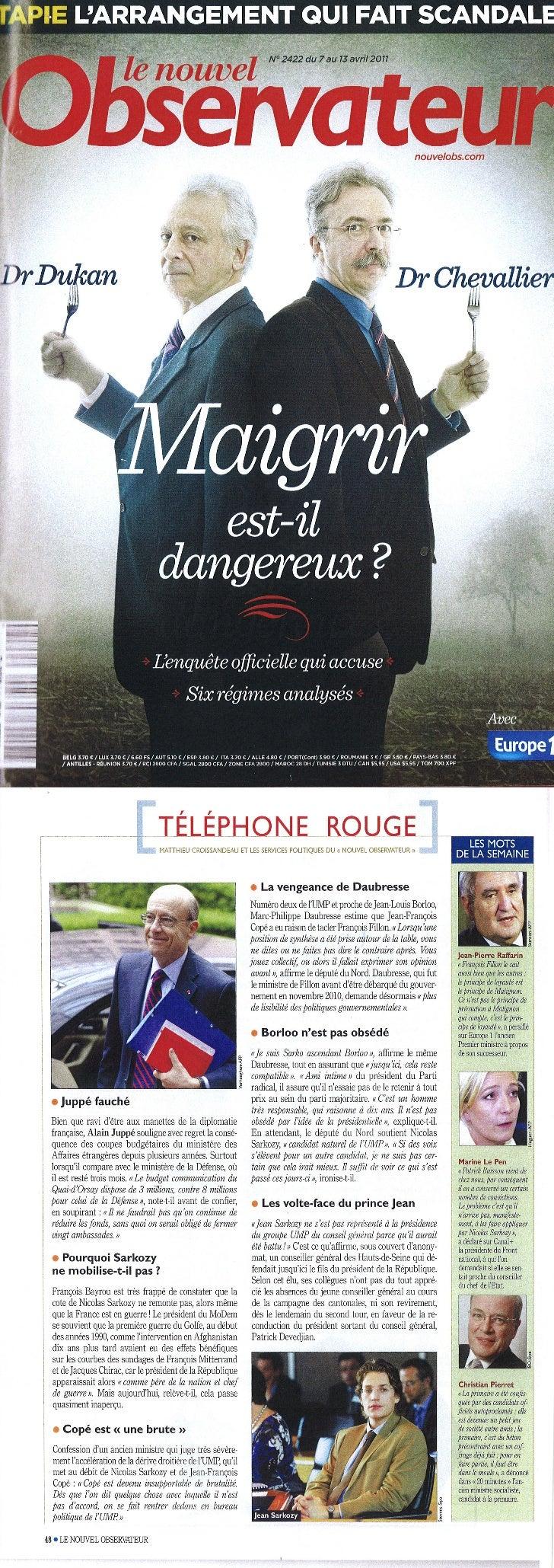 Christian pierret dans le téléphone rouge - nouvel obs - 7 avril 2011