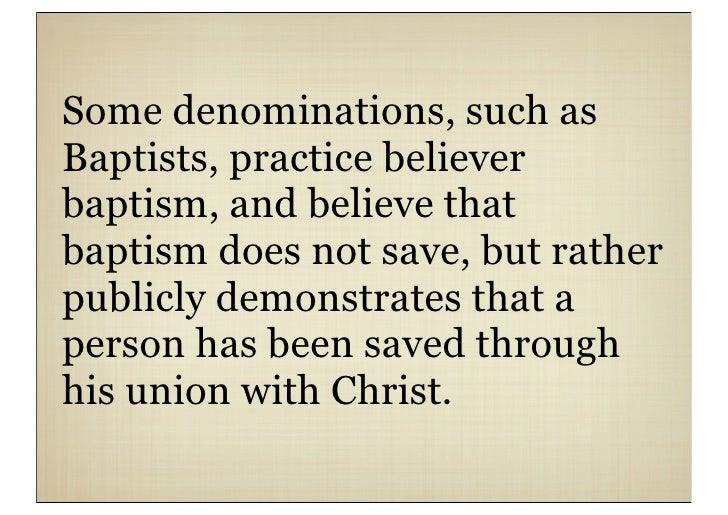 Christian Practices Baptism