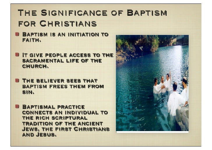 an analysis of the act of baptism in the orthodox christian church Baptism by pouring of water, instead of by full immersion, is not the norm for baptism in the orthodox church as it is in the roman catholic and in some protestant churches, except in cases of necessity, where no alternative exists (please see below.