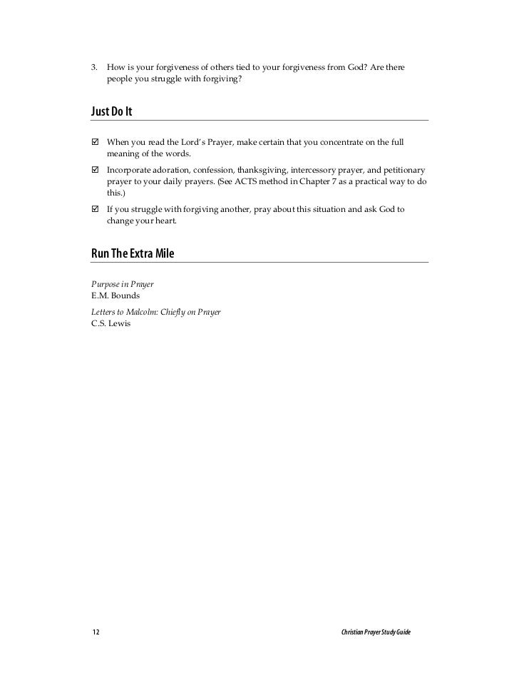 Intercessory Prayer Study Guide | Intercession | Prayer