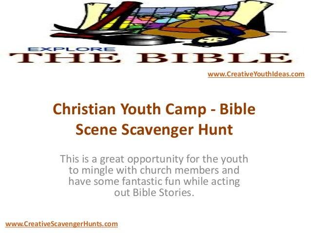 Christian Youth Camp Bible Scene Scavenger Hunt