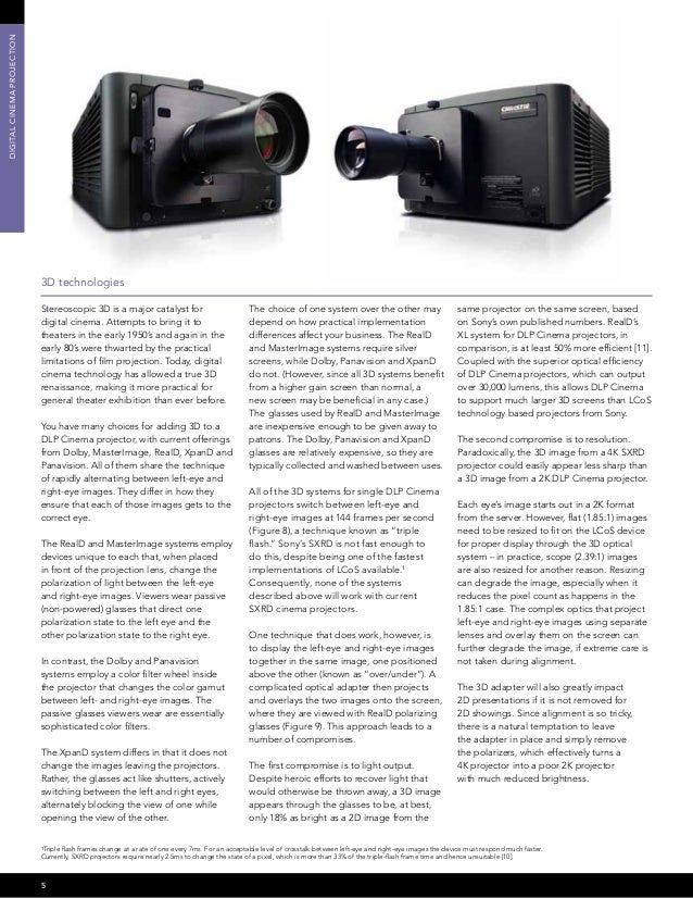 Christie digital cinema projection choosing the right technology