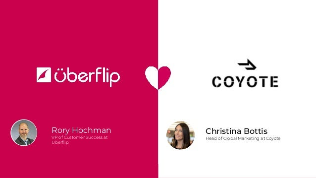 Rory Hochman VP of Customer Success at Uberflip Christina Bottis Head of Global Marketing at Coyote