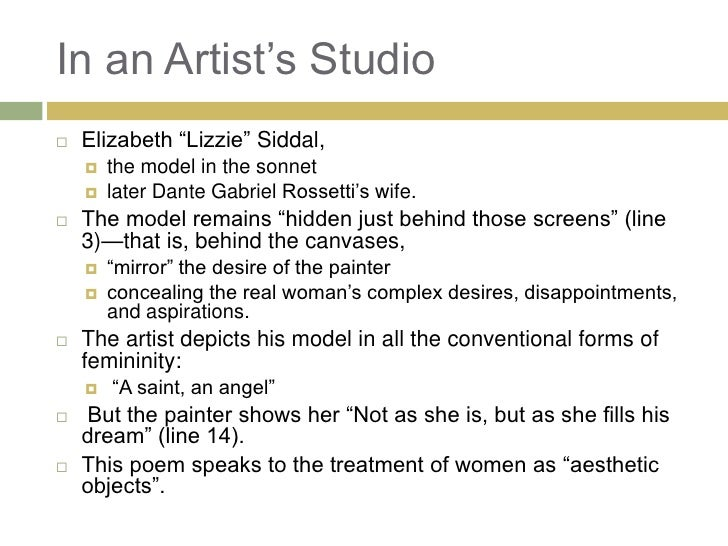 christina rossetti in an artists studio
