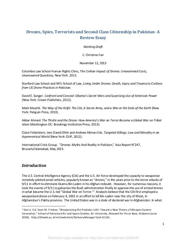 drones spies terrorists and second class citizenship in c  drones spies terrorists and second class citizenship in a review essay working