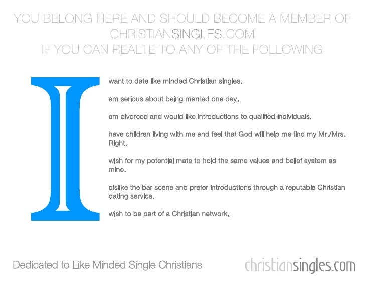 marriage minded christian singles