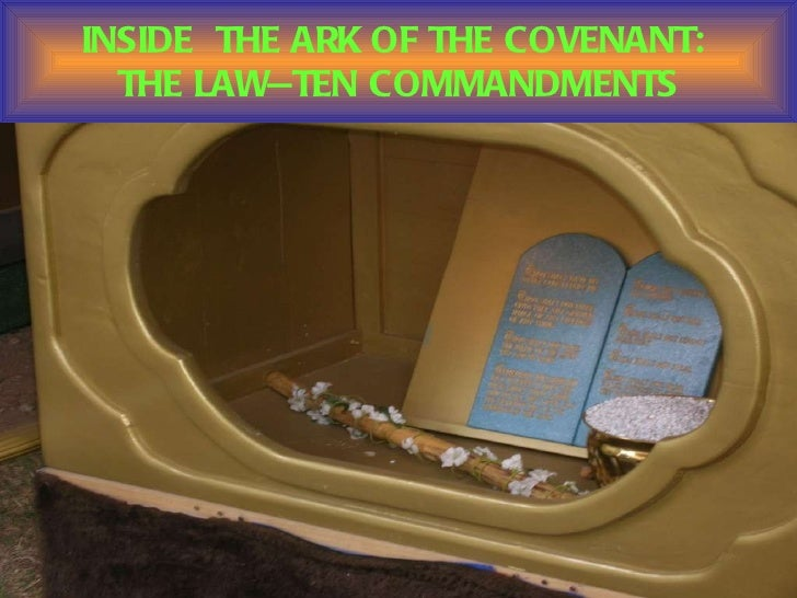 Image result for Moses placed the ten commandments inside the Ark of the Covenant