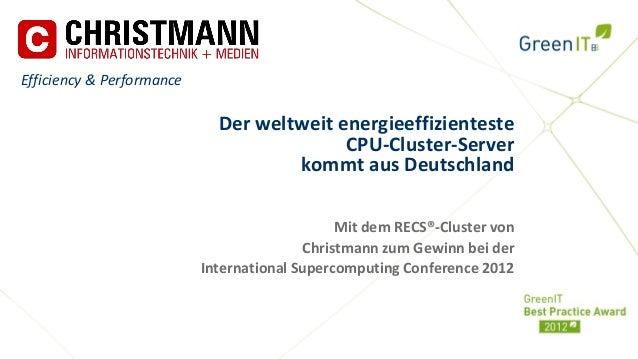 Efficiency & Performance                             Der weltweit energieeffizienteste                                    ...