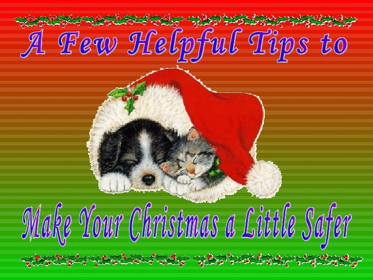 A Few Helpful Tips to Make Your Christmas a Little Safer