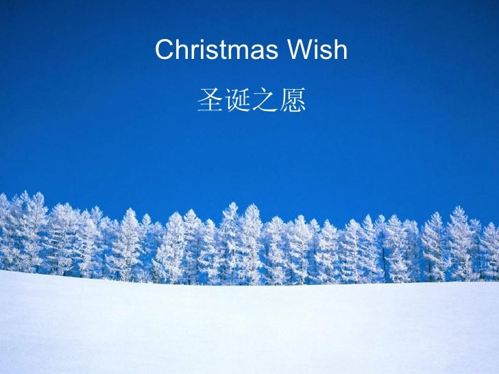 Christmas Wish 圣诞之愿