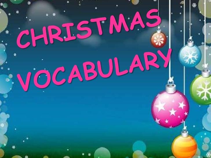 CHRISTMASVOCABULARY<br />