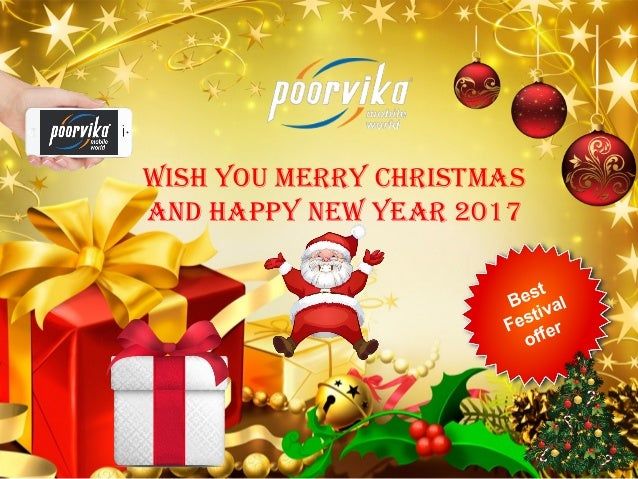 logo wish you merry christmas and happy new year 2017 best festival offer