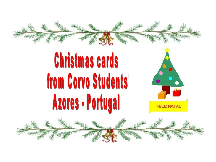 Christmas cards from Corvo Students' Azores - Portugal