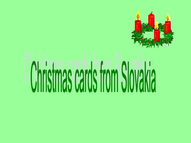 Christmas cards from Slovakia