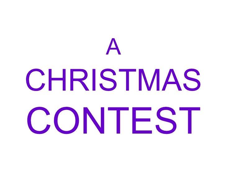 A  CHRISTMAS  CONTEST