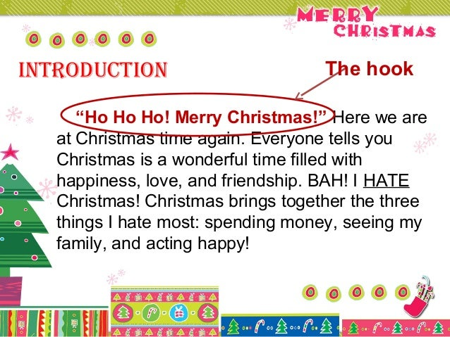 christmas five paragraph essay 3 introduction the hook ldquo