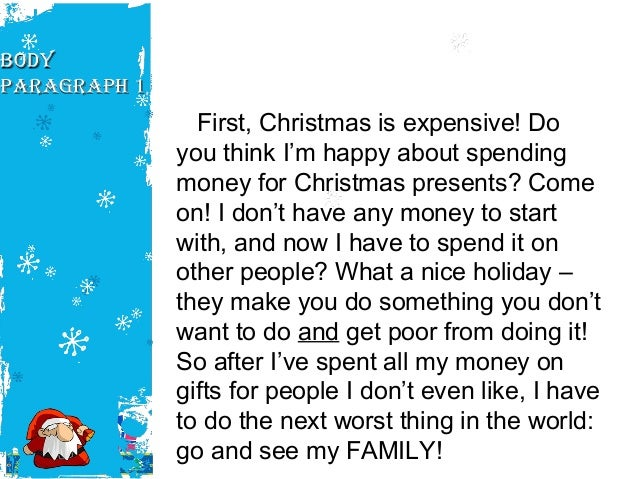 write an essay on how you spend your christmas holiday