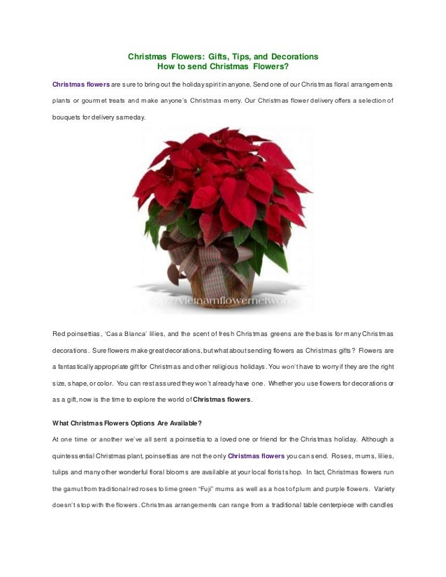 christmas flowers gifts tips and decorations how to send christmas flowers christmas