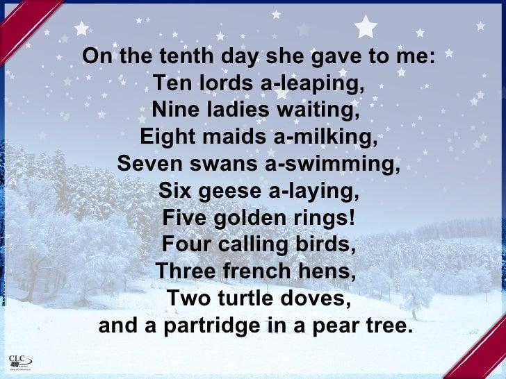 Twelve Days of Christmas with Lyrics Christmas Carol ...