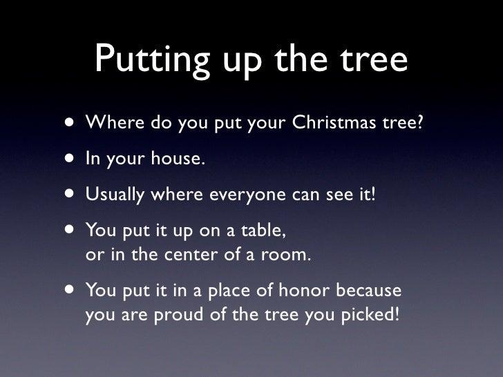 Superb Where Do You Put Your Christmas Tree Part - 9: Putting Up The Tree U2022 Where Do You Put Your Christmas ...