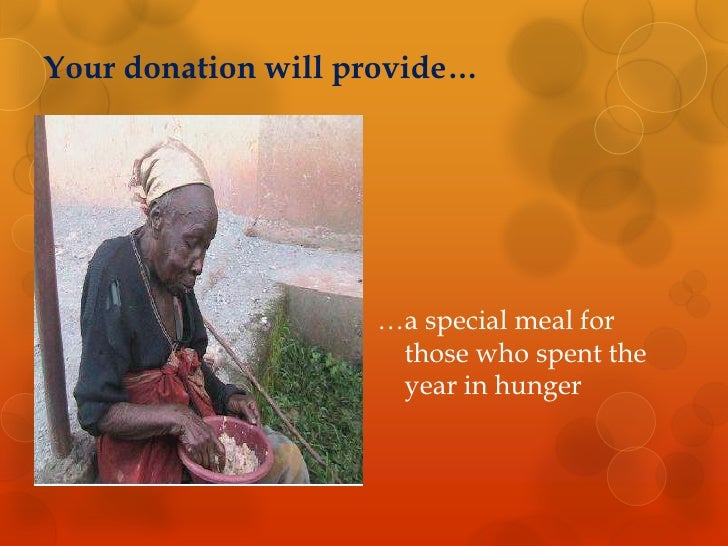 Your donation will provide…<br />…a special meal for those who spent the year in hunger <br />