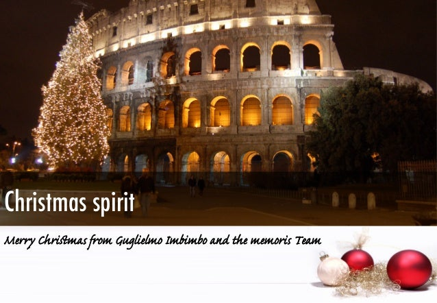 Christmas spirit Merry Christmas from Guglielmo Imbimbo and the memoris Team