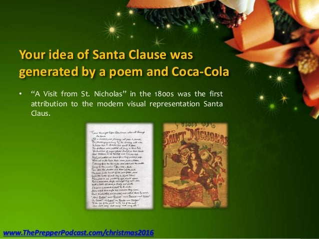 """Your idea of Santa Clause was generated by a poem and Coca-Cola • """"A Visit from St. Nicholas"""" in the 1800s was the first a..."""