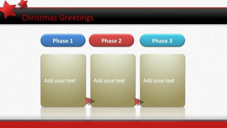 Christmas Greetings Phase 1 Phase 2 Phase 3
