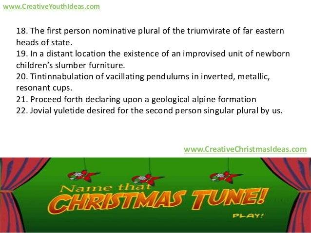 creativeyouthideascom 5 18 - Plural Of Christmas