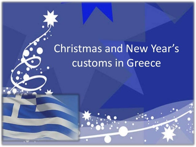 Christmas and New Year's   customs in Greece