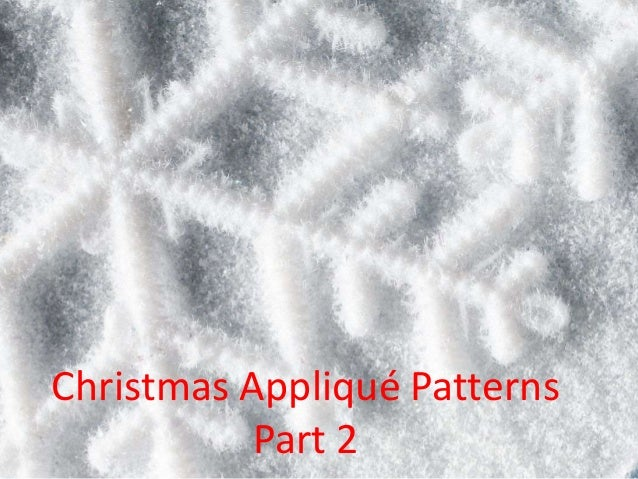 Christmas Appliqué Patterns Part 2