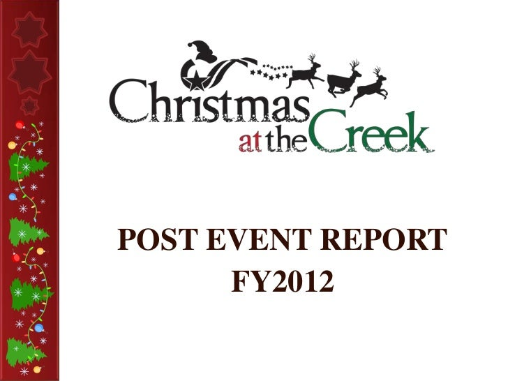 POST EVENT REPORT      FY2012
