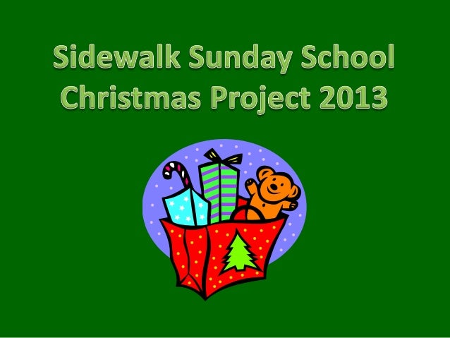 In 2012 over 1,350 children at 12 sitesreceived Christmas gift bags, giftcards, stuffed animals or a baby item from26 chur...