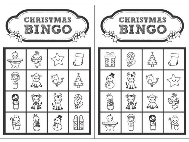 Christmas bingo - black and white