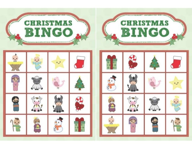 Christmas bingo - Color