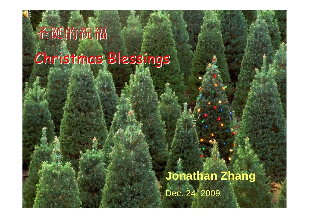 圣诞的祝福 Christmas Blessings                       Jonathan Zhang                   Dec. 24, 2009