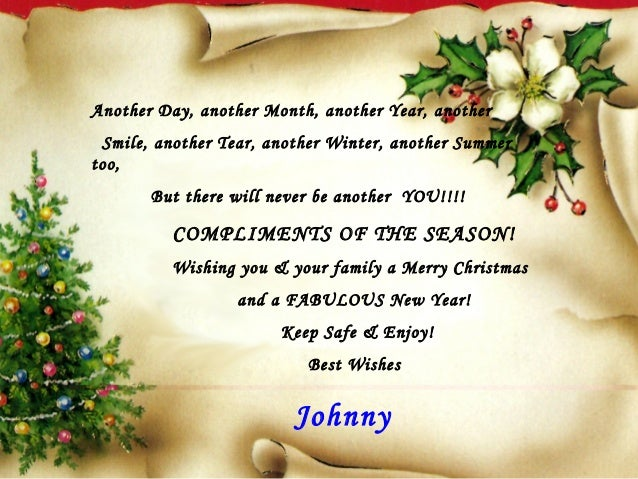 christmas card to my friends another day another month another year another smile another tear another