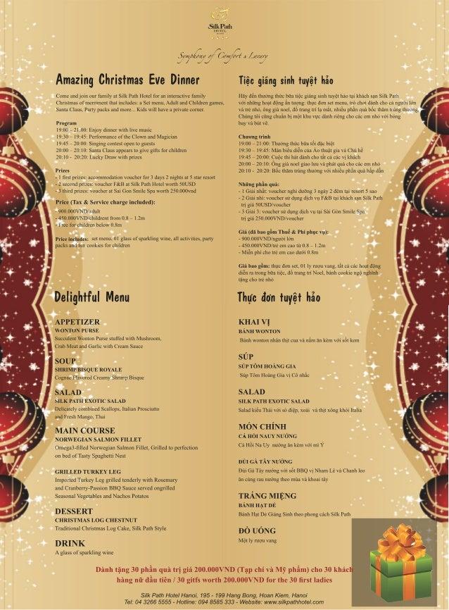 Christmas card 2012 menu