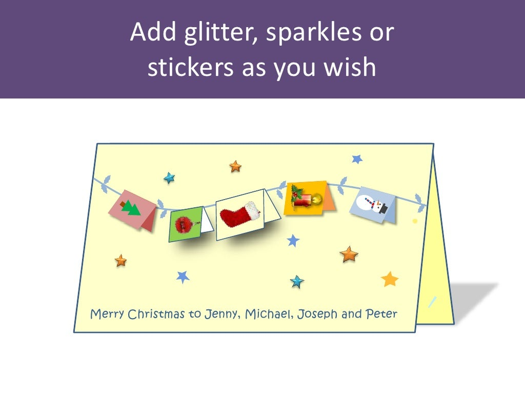 Christmas Quotes And Sayings Glitter Sticker Decal: Add Glitter, Sparkles Or Stickers
