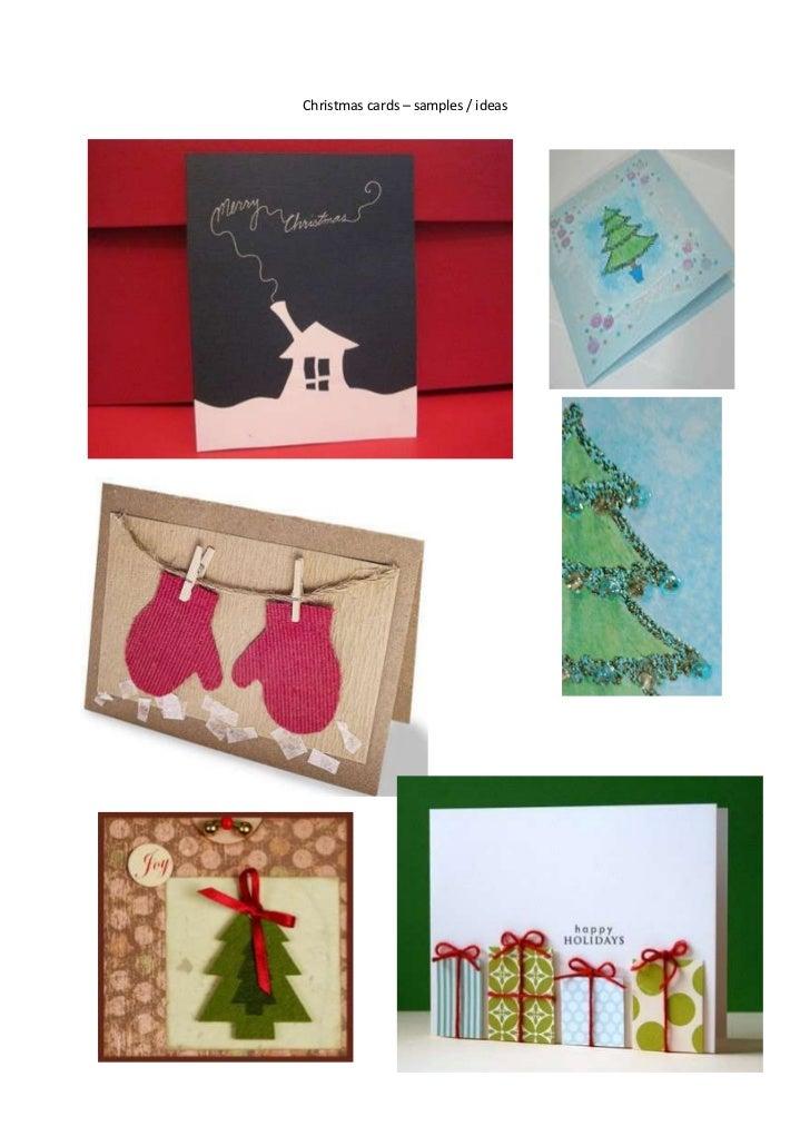 Christmas cards – samples / ideas