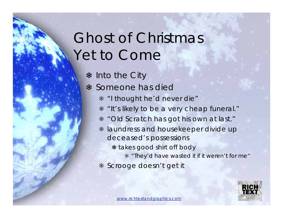 Ghost of Christmas Yet to