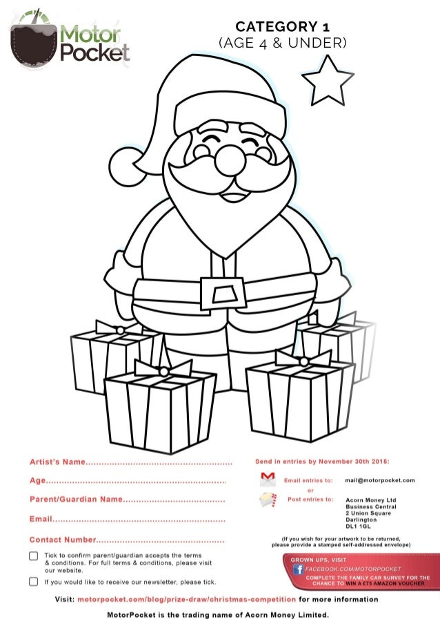 Christmas children drawing and colouring competition - templates