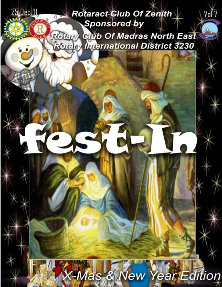 1   fest-In                                          Christmas & New Year Edition    Warm Rotaract Greetings!!!    It give...