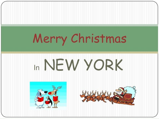 Merry Christmas In  NEW YORK