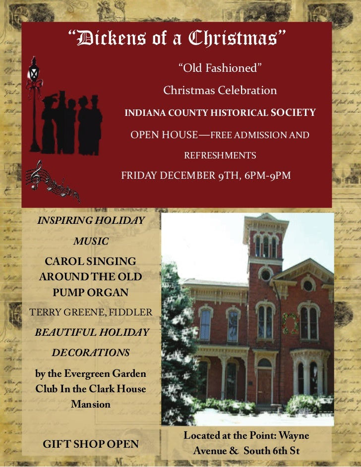 """""""Dickens of a Christmas""""                             """"OldFashioned""""                           ChristmasCelebration   ..."""