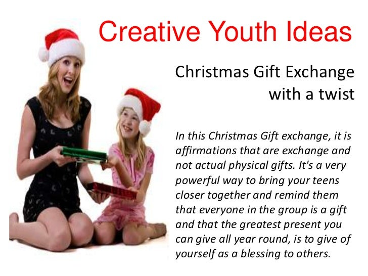 Youth group christmas gift exchange ideas