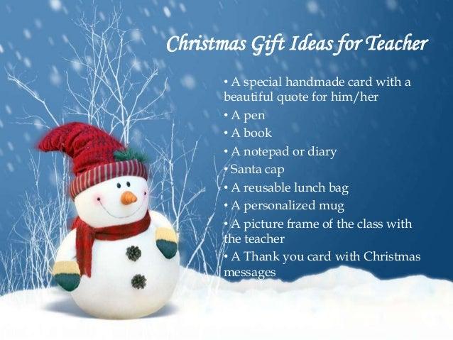 Teacher gift ideas for christmas from class